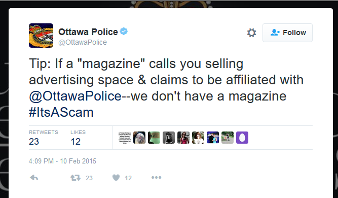 Police Magazine needs to hire some new marketing people